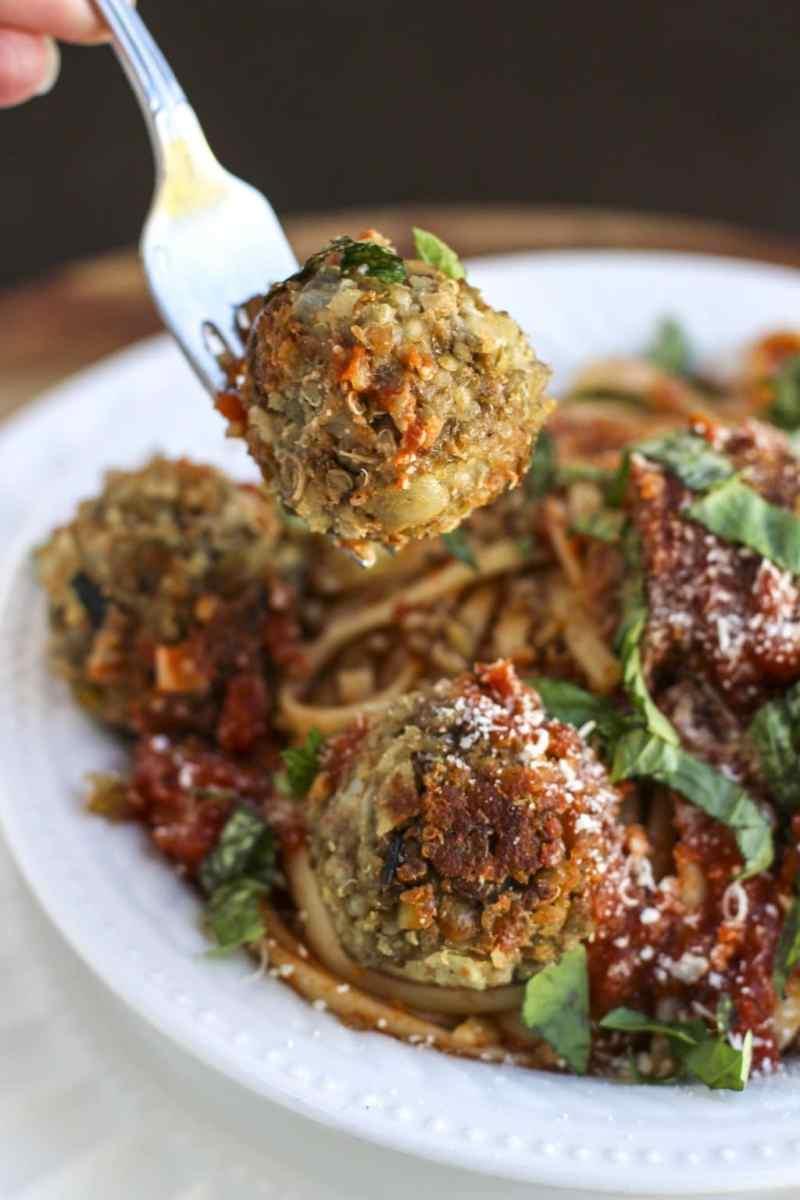 Italian Lentil Quinoa Meatballs
