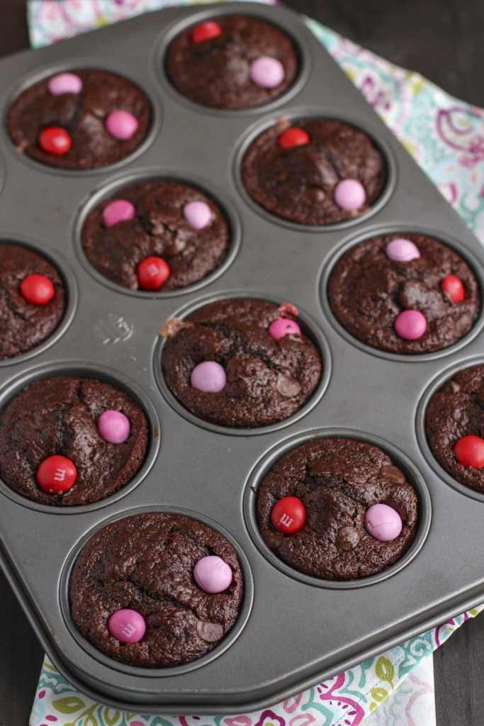 chocolate strawberry filled muffins