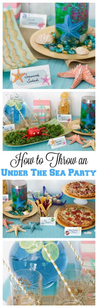 Throw and under the sea party