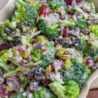 Creamy Vegan Broccoli Salad