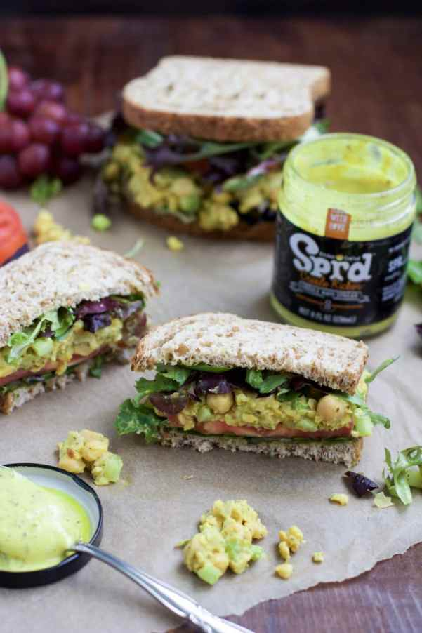 Chickpea salad is the perfect protein-packed meal to make in big batches so you have easy healthy lunches during the week!