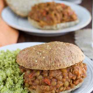 These vegan lentil sloppy joes are pure childhood comfort food! We love the meaty texture and tangy sauce, you'll never guess the 2 secret ingredients!