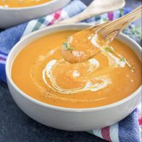 Vegan Carrot Ginger Sweet Potato Soup
