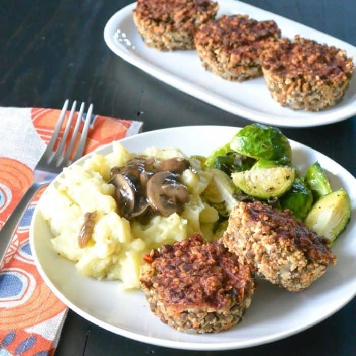 Lentil Meatloaf Muffins (Vegan & Gluten-Free)