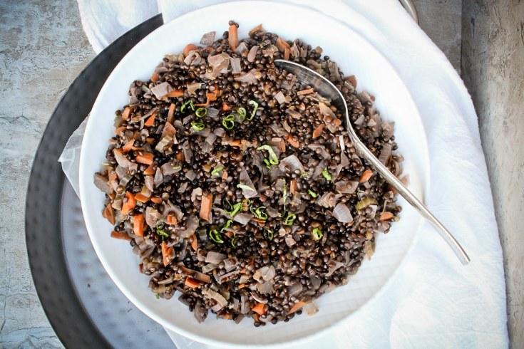 Beluga Lentil Salad - Easy VEGAN Side Dish