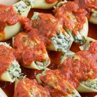Vegan Spinach Artichoke Dip Stuffed Shells