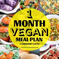 Vegan Grocery List for Beginners + 1-Month Meal Plan & Recipes!