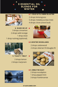 healthy ways to defeat the winter blues, essential oils, aromatherapy, cold and flu, warmth