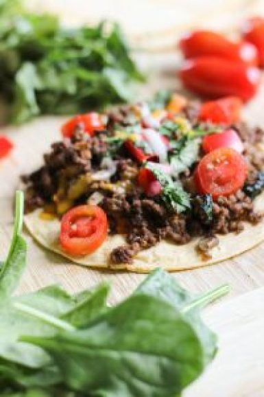 Healthy Weeknight Bison Tacos | by Stacey Mattinson, MS, RDN, LD