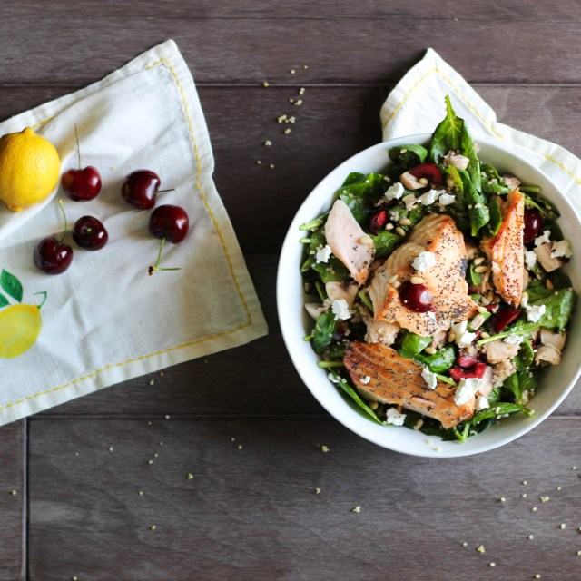 Honey-Glazed Poppy Seed Salmon Salad