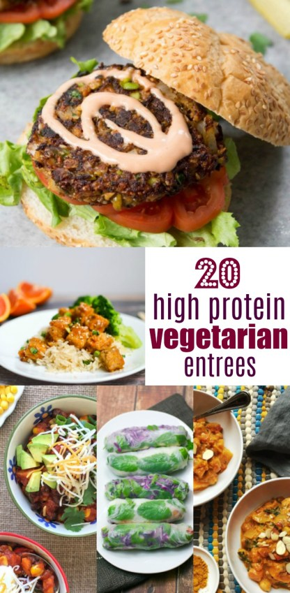 These delicious high protein vegetarian recipes by dietitians are just what you need! 20 High Protein Vegetarian Recipes | by Stacey Mattinson, MS, RDN, LD