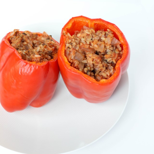 Turkey Stuffed Bell Peppers | Gluten-Free