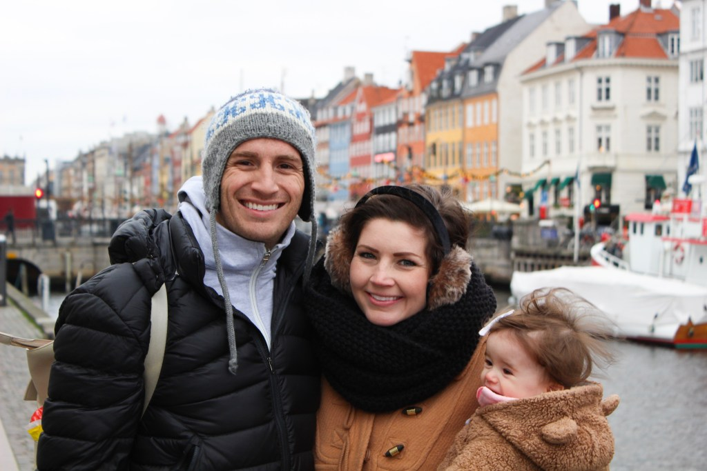 Family traveling in Europe