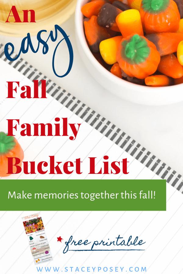 An Easy Fall Family Bucket List