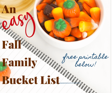 An Easy Fall Family Bucket List