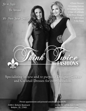 Think Twice Fashions Ad - February 2014