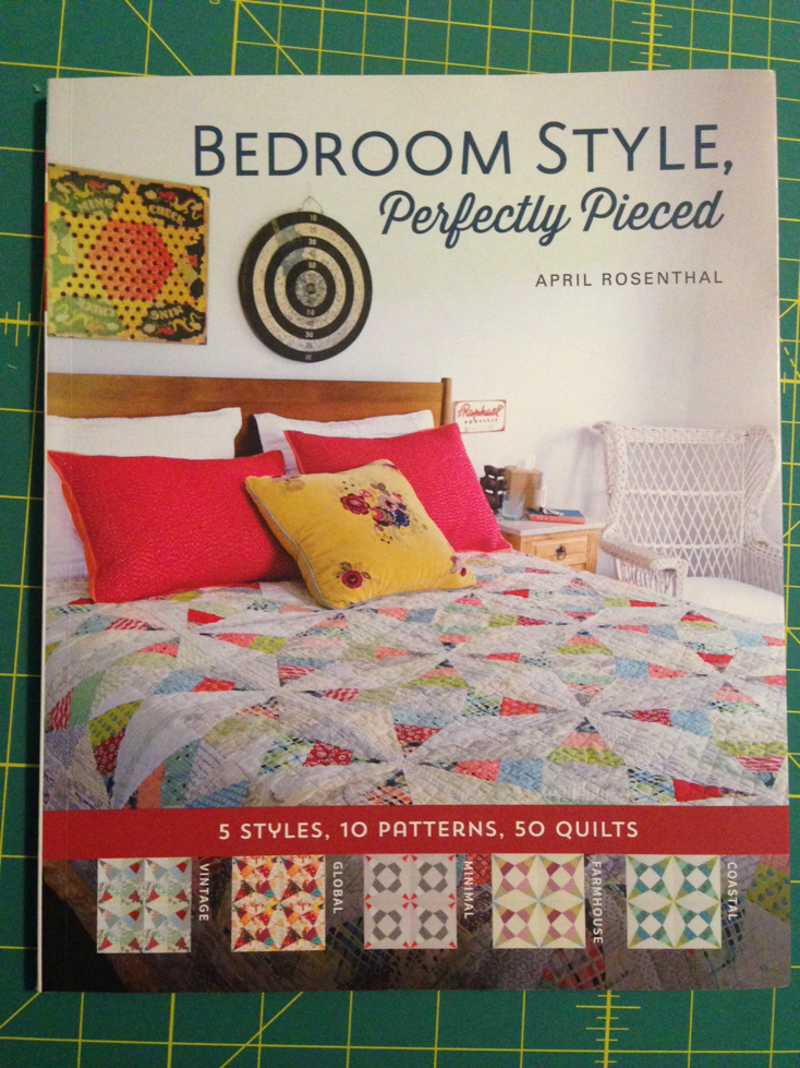 Inspiration from April Rosenthal's Book: Bedroom Style, Perfectly Pieced - Quilting Progress at Stacey Sansom Designs
