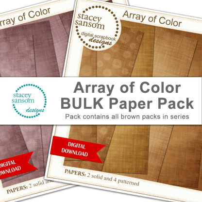 Array of Color BULK Paper Pack - Brown - from Stacey Sansom Designs