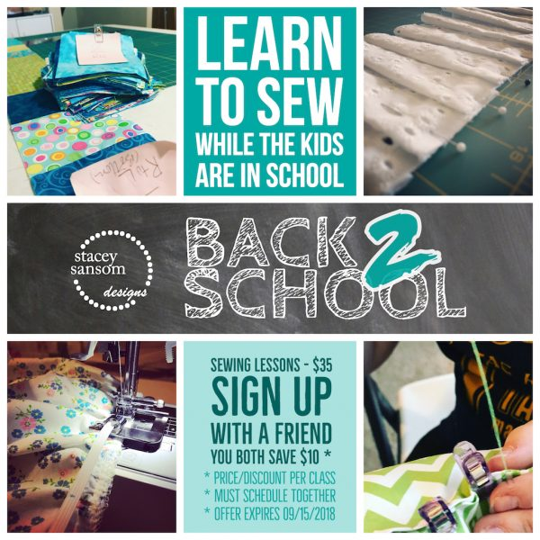 Sewing Lessons   Back to School Deals   Stacey Sansom Designs