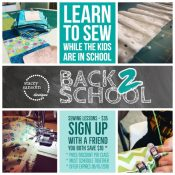 Sewing Lessons | Back to School Deals | Stacey Sansom Designs