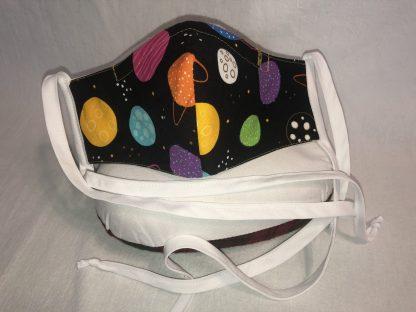 Medium Face Mask (Ver 1) - Planets   Stacey Sansom Designs