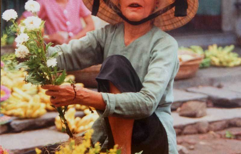 Photo: Selling flowers in Hoi An, Vietnam