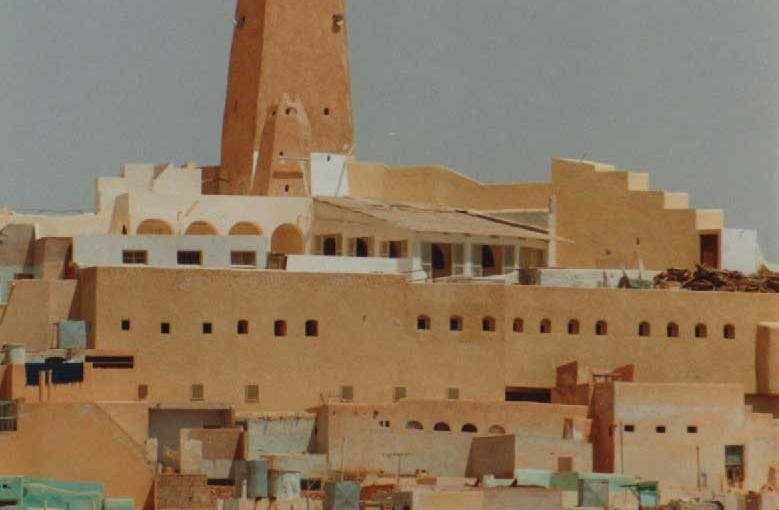 Photo: The mosque in Ghardaia, Algeria