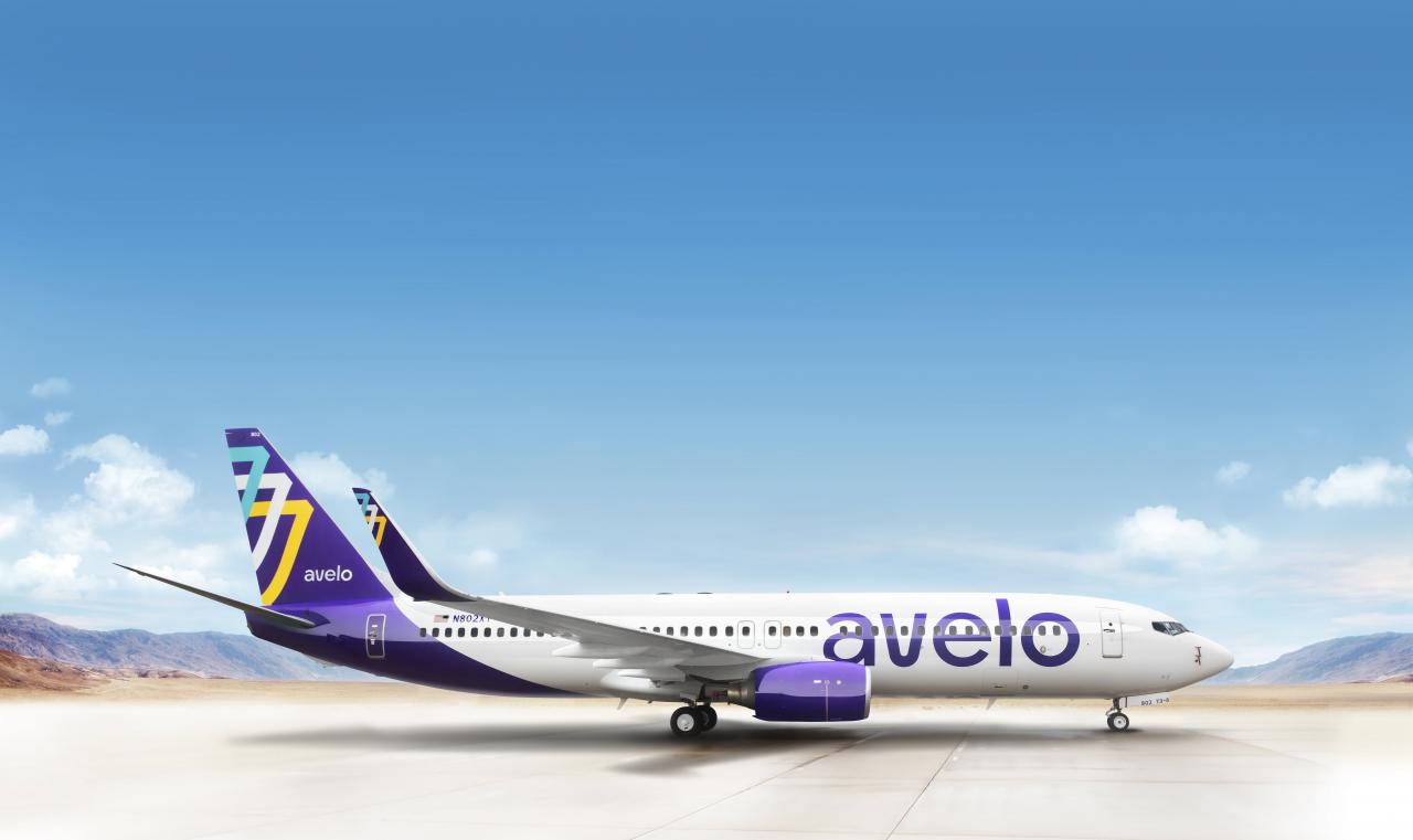 Avelo airline airplane