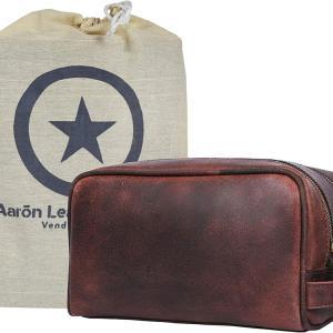 Aaron Leather Goods Toiletry kit