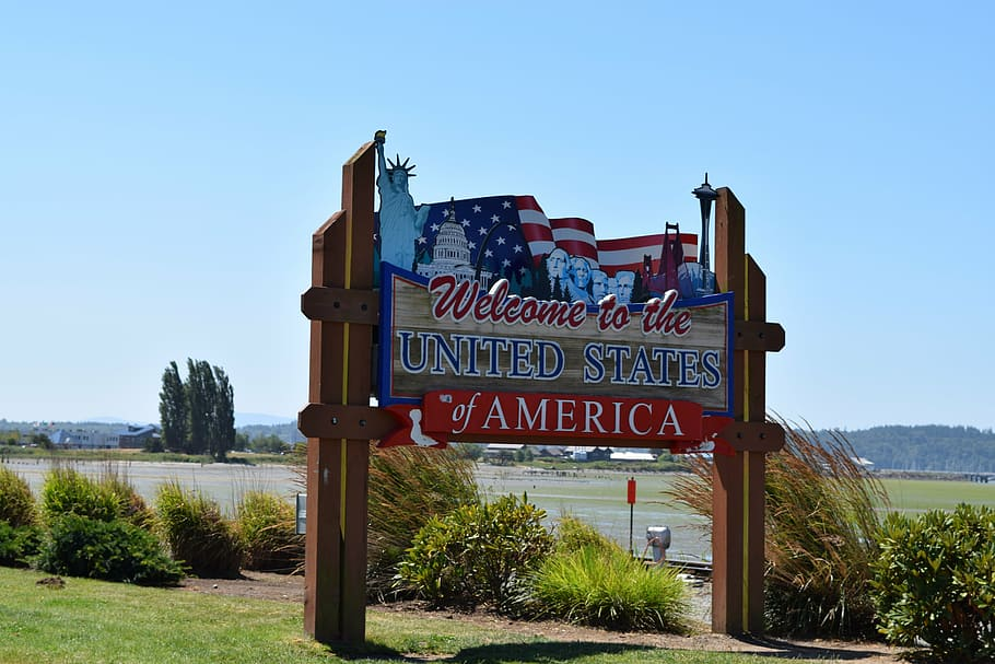 U.S. border sign