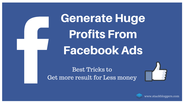 Generate Huge Profits From Facebook Ads