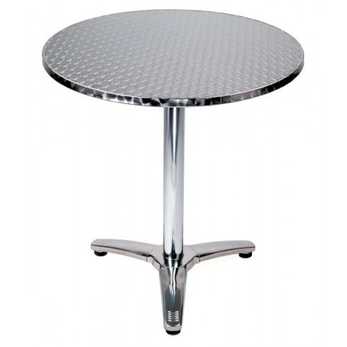 Amazing 28 Round Top Stainless Steel Table Tri Foot