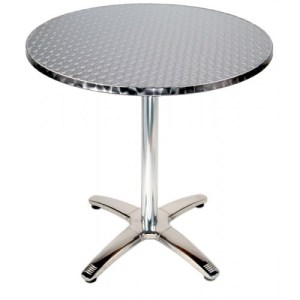 Commercial Bistro And Cafe Tables - Round metal cafe table