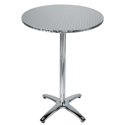 28u2033 Round Stainless Steel Bar Height Table