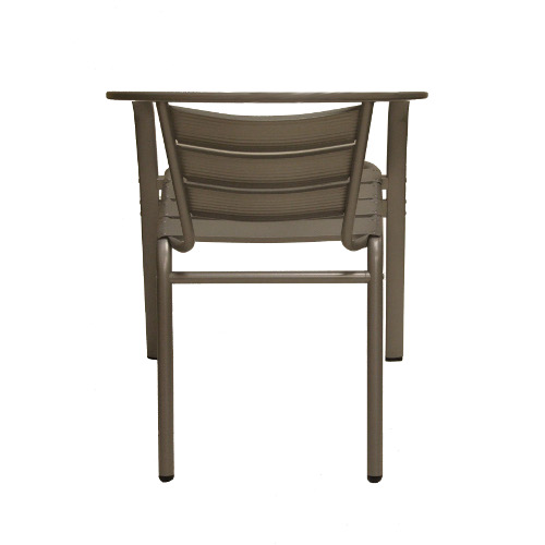 aluminum side chair back