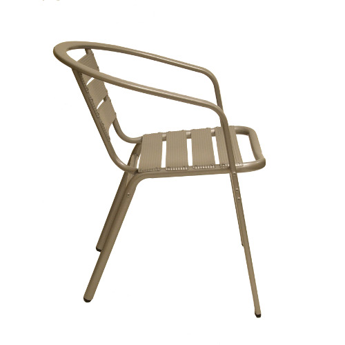 aluminum side chair side