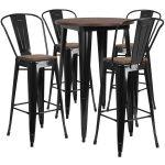 30rd Black Metal Bar Set Ch Wd Tbch 25 Gg Stackchairs4less Com