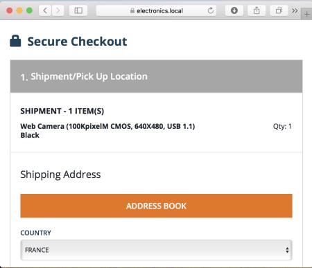 Delivery address checkout step Hybris