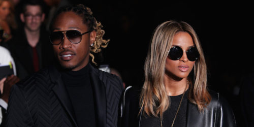 MILAN, ITALY - JANUARY 12: Future; Ciara attend the Calvin Klein Collection show as a part of Milan Fashion Week Menswear Autumn/Winter 2014 on January 12, 2014 in Milan, Italy. (Photo by Antonio de Moraes Barros Filho/WireImage)