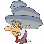 1213643-Exhausted-Businessman-Carrying-The-Burden-Of-A-Heavy-Boulder-Load