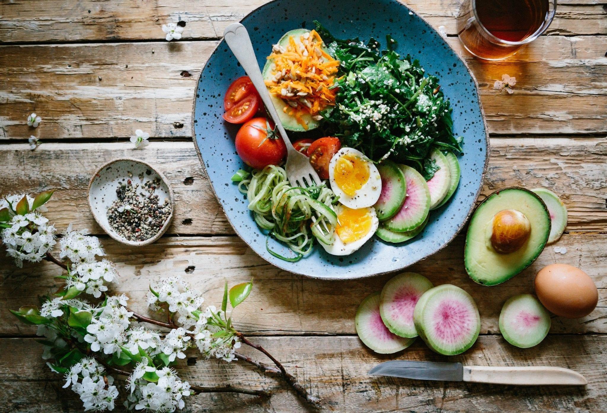 Avocado Spinach & Zucchini Salad