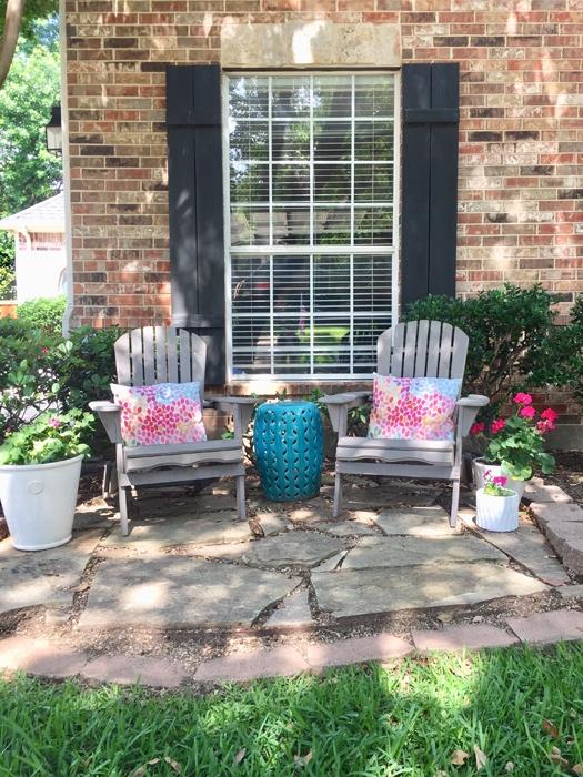 a stylish useful diy front yard patio