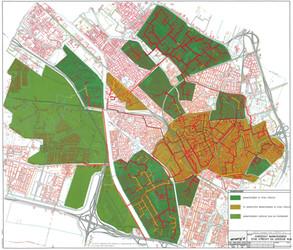 Kaart: Het Utrechtse warmtenet is het oudste net van Nederland en behoort ook tot de grootste. Op de kaart is te zien dat grote delen van Utrecht een warmte infrastructuur kennen.