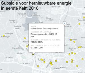 eneco sde subsidie biomassa BWI Utrecht