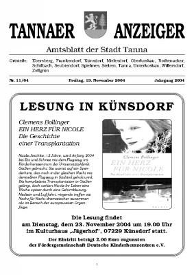 Amtsblatt November 2004