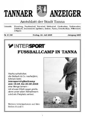 Amtsblatt Juli 2005