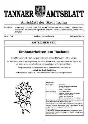 Sonderamtsblatt Juli 2012
