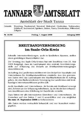 Sonderamtsblatt August 2009