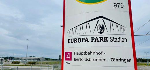 "Haltestelle ""Europa-Park Stadion"""