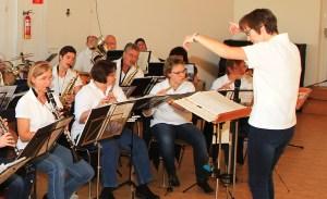 Das Orchester bei der Arbeit
